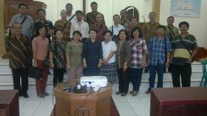 Majelis Jemaat bersama Sekum BNKP